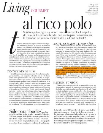 Green Helados en Revista Vogue 08-13