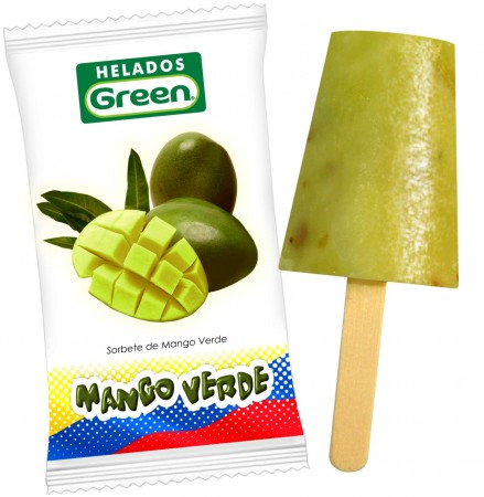 Helado de Mango Verde